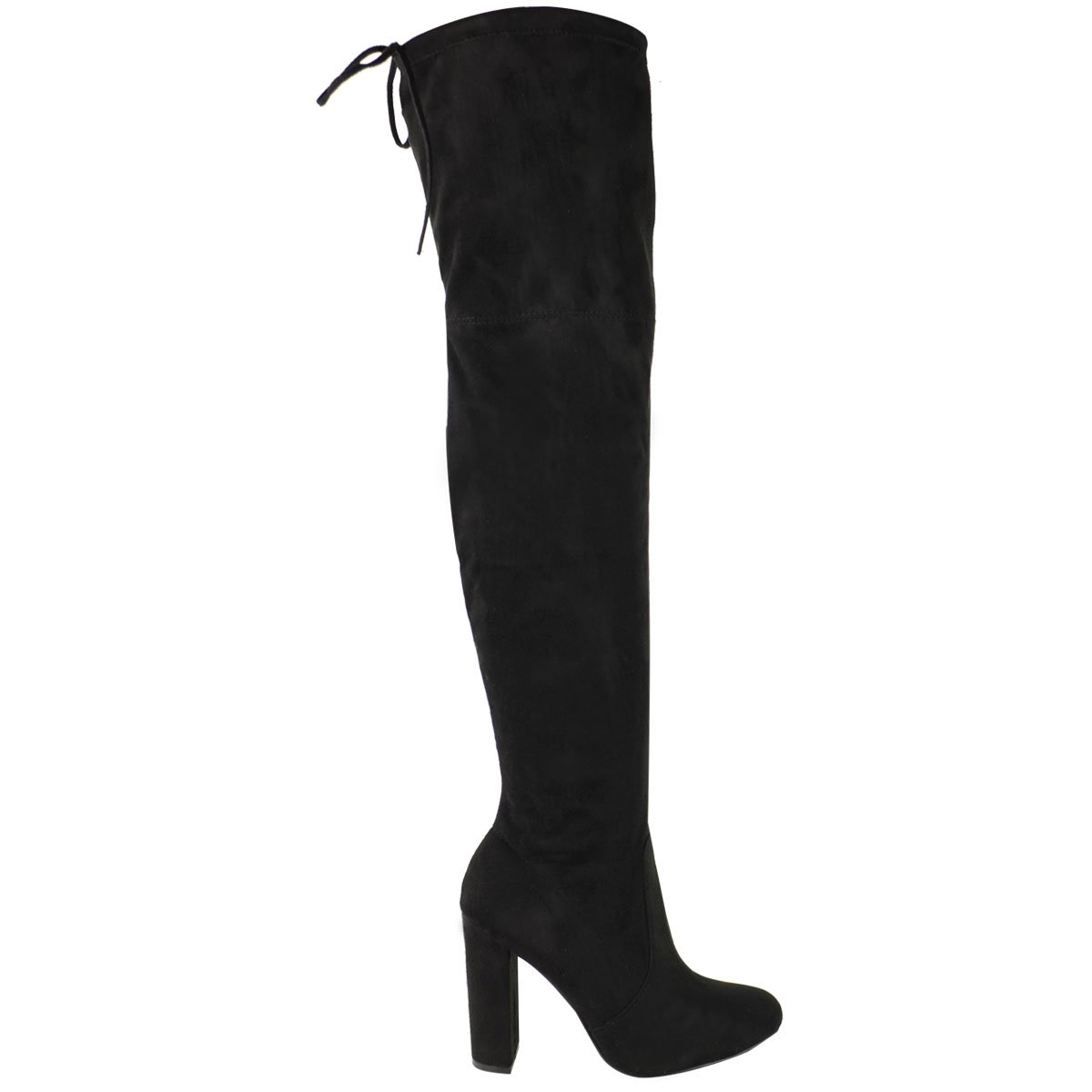 3e203406f210 Amazon.com  Fashion Thirsty Womens Thigh High Boots Over The Knee Party  Stretch Block Mid Heel Size  Clothing