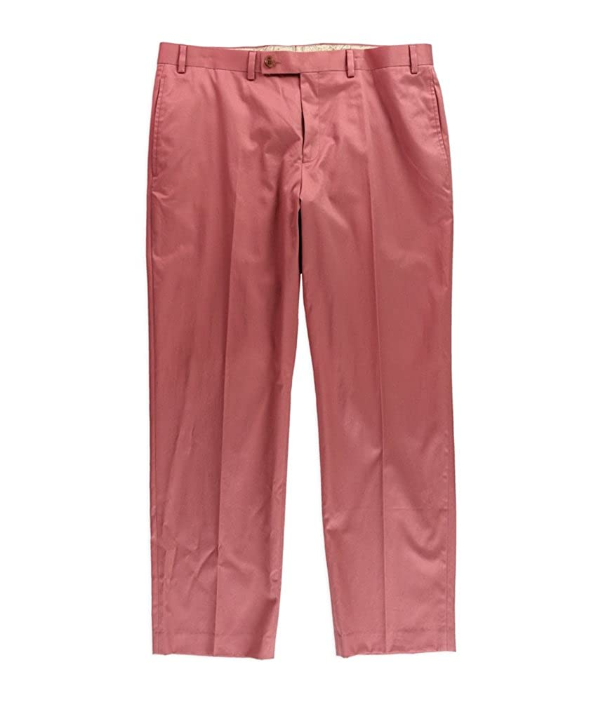 24f6811f Lauren by Ralph Lauren Men's Neville Solid Cotton Dress Pants, Nantucket  Red (36x32)