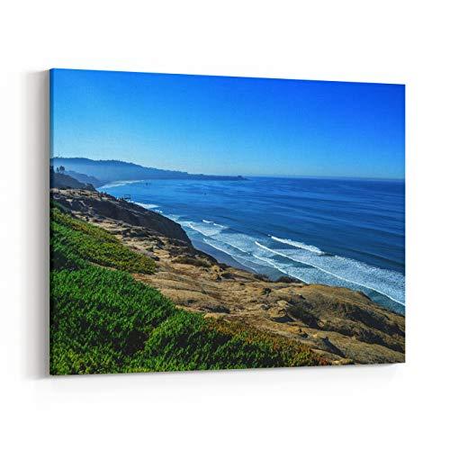 Rosenberry Rooms Canvas Wall Art Prints - Beautiful Pacific Coast, Near Santa Barbara, California (24 x 20 inches) (Best Beaches Near Santa Barbara)