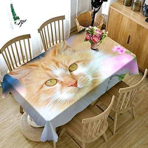 3D Tablecloth Color Flower Pattern Polyester Cotton Material Dustproof Tablecloth Home Wedding Party Decoration Table Cloth  Color 2 B07SDLKRK7