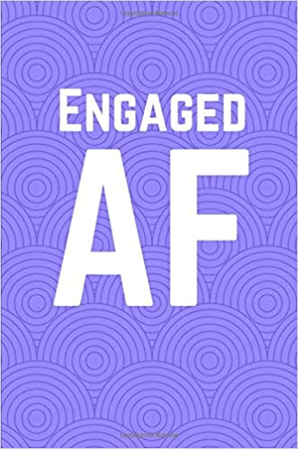 Engaged AF Purple Circles 100 Page Lined Journal Paper Notebook For Friends Birthday Funny Note Taking Book