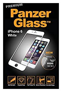Panzer Glass PREMIUM Protective Anti Scratch Fluid Resistant Glass Screen Protector Shield for Apple iPhone 6/6S - White by PanzerGlass