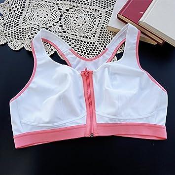 Los sujetadores deportivos, lencería, tamaño, sujetador deportivo, sin aros, super shock yoga, running,blanca,95D: Amazon.es: Hogar
