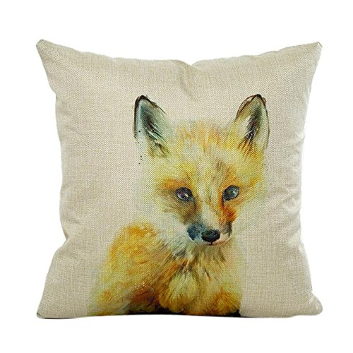 Fheaven Cute animals Pillow Case Sofa Waist Throw Cushion Cover Home Decor for Merry Christmas and Halloween(Cats, dogs, bears, rabbits) (B) -