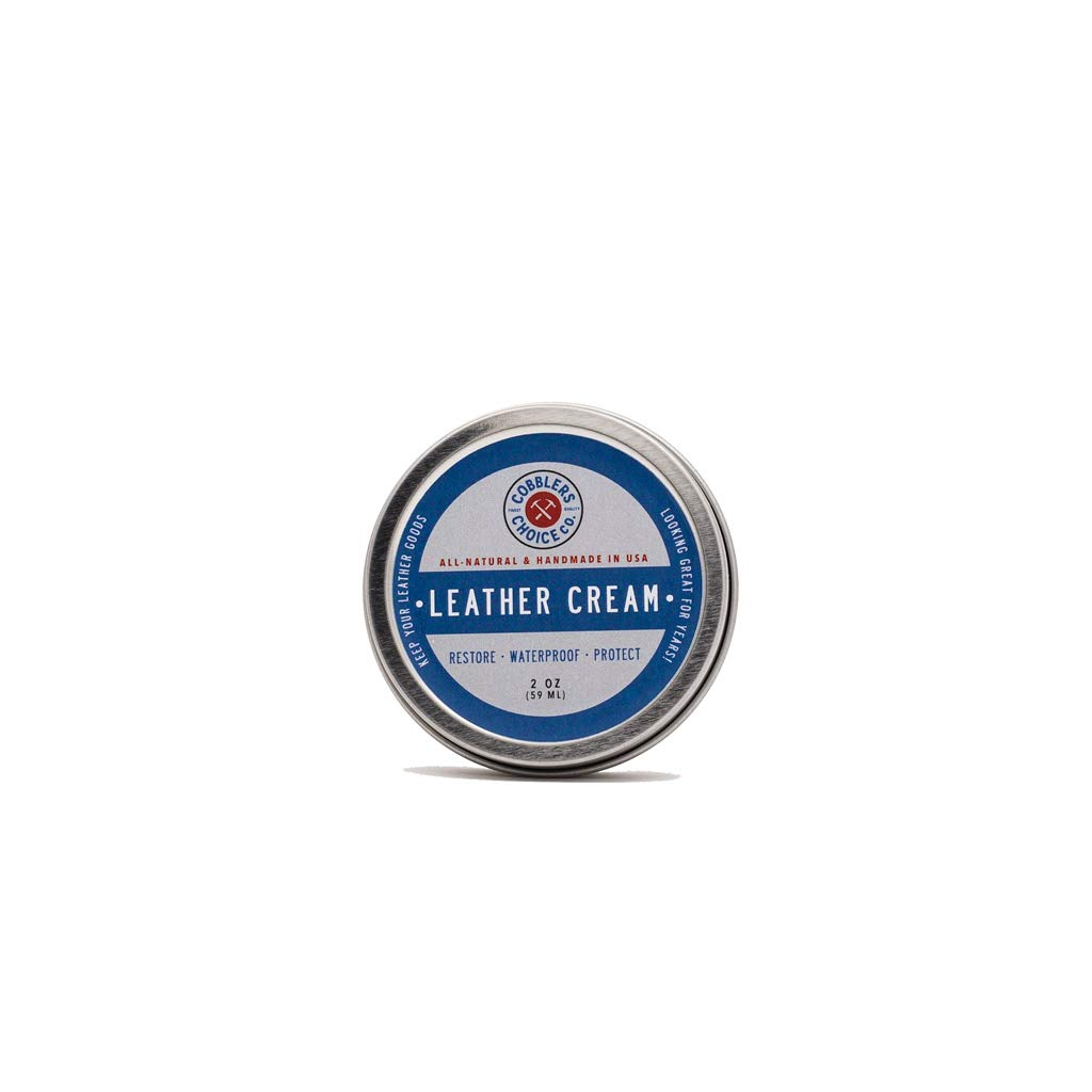 Cobbler's Choice All-Natural Leather Cream - Restores and Protects Smooth Leather - Made with Triple Filtered BeesWax by Cobbler's Choice Co.