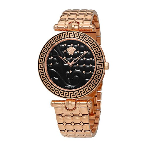 Versace Women's VK7250015 Vanitas Analog Display Swiss Quartz Gold Watch