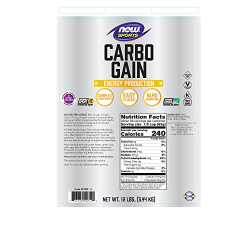 NOW Sports Carbo Gain, 12-pound by Now Sports (Image #1)