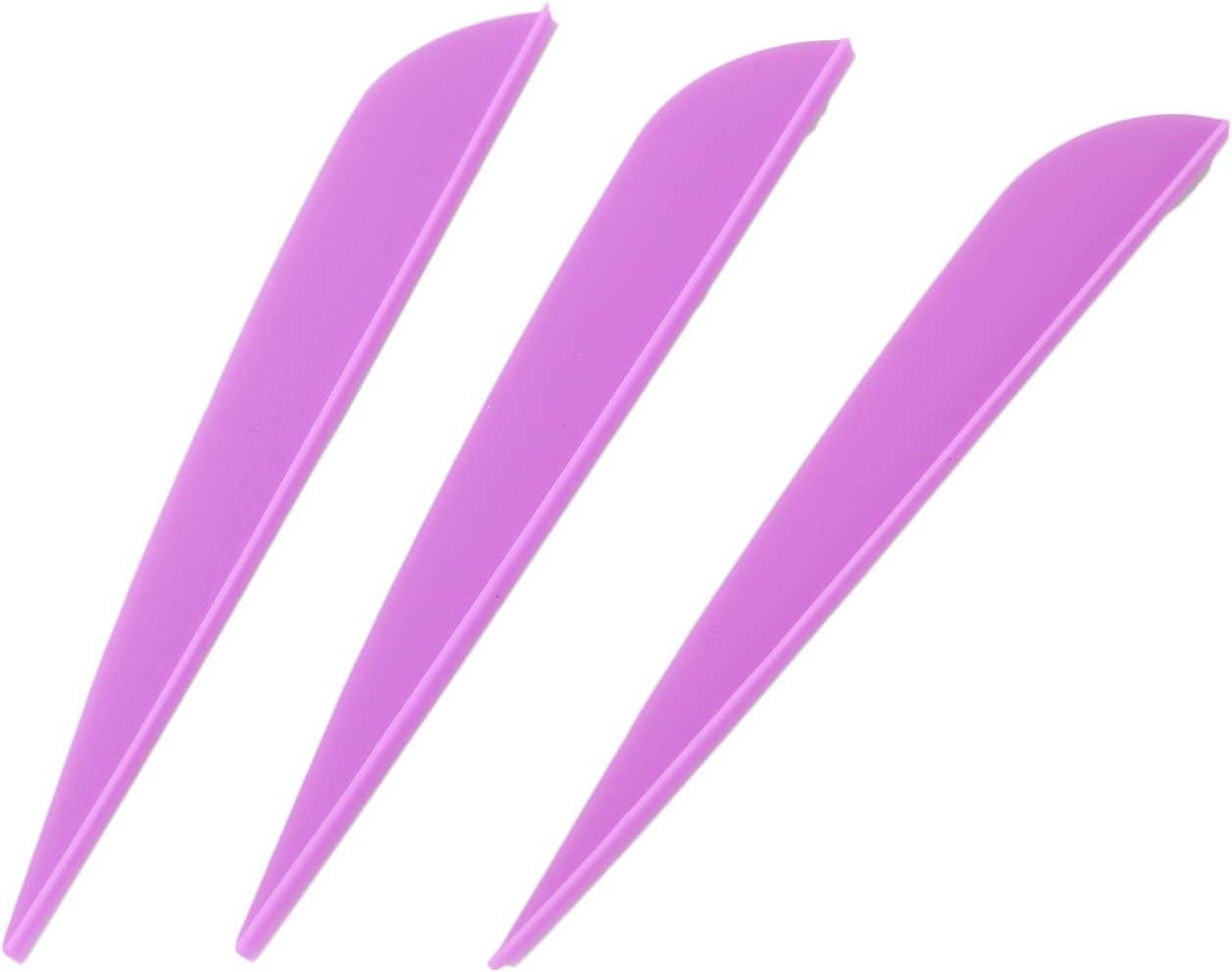 CUHAWUDBA Flechas Paletas 4 Pulgadas Cola De Flecha De Pluma De Pl/ástico para DIY Flechas De Tiro con Arco Paquete De 50 P/úrpura