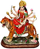 Enchanting Durga Sitting on Tiger Statue