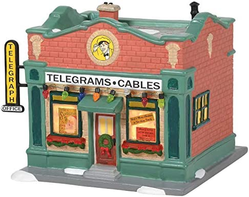 Department 56 A Christmas Story Village Hohman Telegraph Office Lit Building 5.4 Inch Multicolor