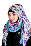 Extra Wide Hijab Hanging Garden (Blue)