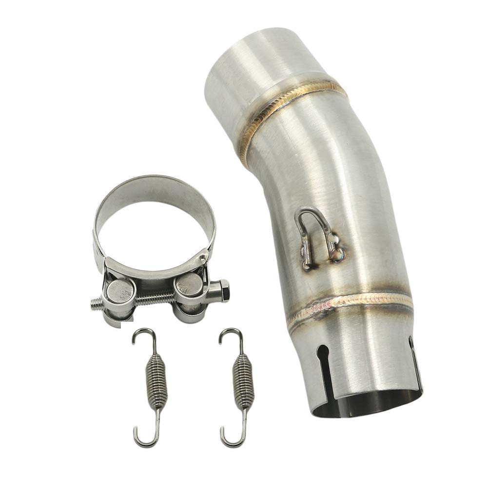 Amazon.com: Motoparty Ninja 400 Exhaust Middle Link Pipe For ...