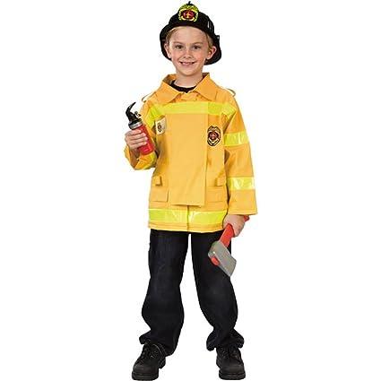Amazon.com: Childs Bombero traje (Tamaño: Juventud Pequeño 5 ...