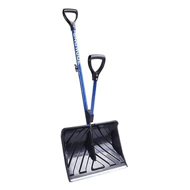 Snow Joe SJ-SHLV01 SHOVELUTION 18-in Strain-Reducing Snow Shovel w/Spring Assisted Handle, Blue