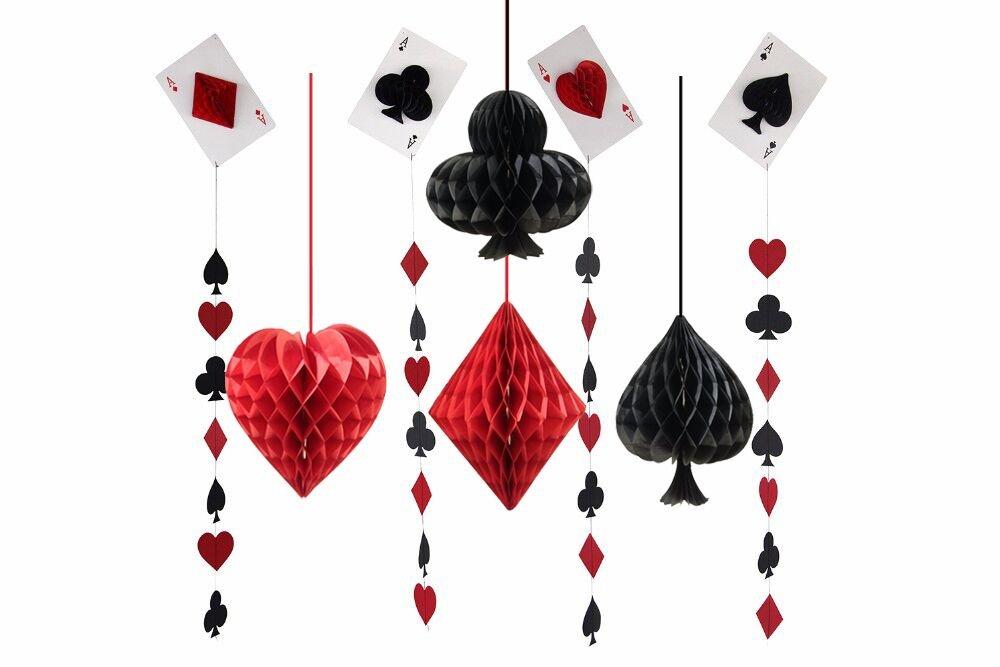 sogorge Pack de 8 papel de seda pompones Casino Las Vegas ...