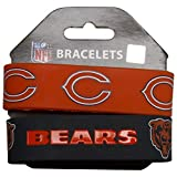 NFL Chicago Bears Silicone Rubber Bracelet, 2-pack