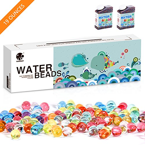 Elongdi Water Beads Pack  Rainbow Mix Over 19 Ounces Orbies