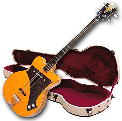 Kay Vintage Reissue K5970VB Jazz Special Bass Guitar, Blonde