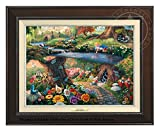 Thomas Kinkade Disney Alice in Wonderland 12'' x 16'' Canvas Classic (Espresso)