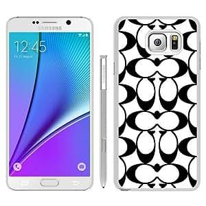 Popular Samsung Galaxy Note 5 Cover Case ,Coach 19 White Samsung Galaxy Note 5 Case Newest And Unique Designed Phone Case