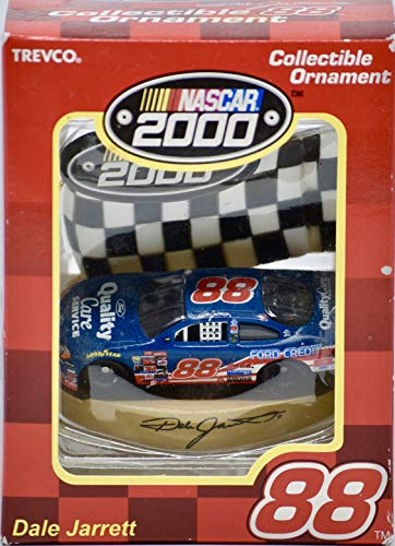 2000 - Trevco/NASCAR - Dale Jarrett #88 - Ford Taurus - Christmas Ornament - OOP - Collectible - New
