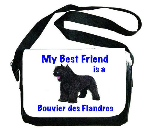 My Best Friend is Bouvier Des Flandres Messenger Bag