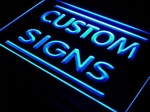 tm ADV PRO Custom Signs/Neon Signs/LED Signs/Edge Lit Signs/Your Own Design (400x300mm, Blue)