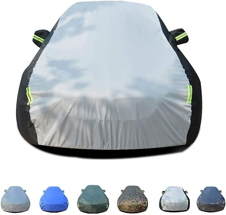 Waterproof With Fluorescent Strips UV Protection All Weather Snow Dust Rain Wind Resistant Indoor Outdoor Protector Fit Aston Martin V8 Vantage Roadster Model Sedan Car Cover