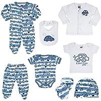 Kit 8 Peças Bebê, Tiptop, Azul, Rn