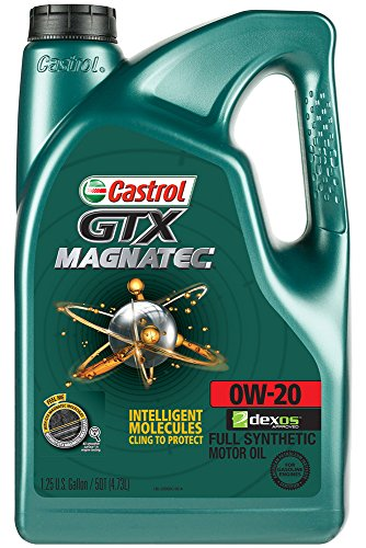 Castrol 03060 GTX MAGNATEC 0W-20 Full Synthetic Motor Oil, 5 Quart, 3 Pack 15 Quart Oil Drain