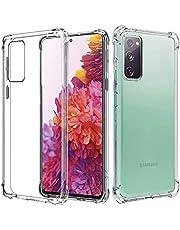 for Samsung Galaxy S20 FE 5G Case, Heavy Duty Soft Clear Crystal Flexible Ultra Slim TPU Bumper Cover