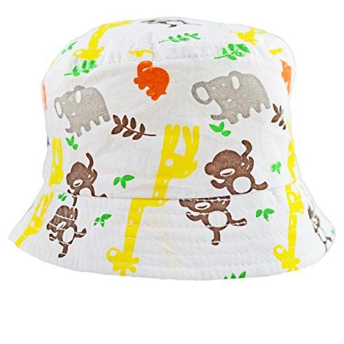 8a74612c1ce Pesci Baby Summer Bucket Sun Hat Safari Animal Print