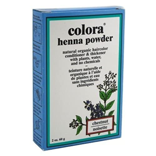 Top Colora Henna Powder Hair Color Chestnut 2oz (3 Pack) for sale