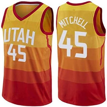 New Season Utah Jazz #45 Donovan Mitchell Basketball Jersey Purple Size:S-XXL