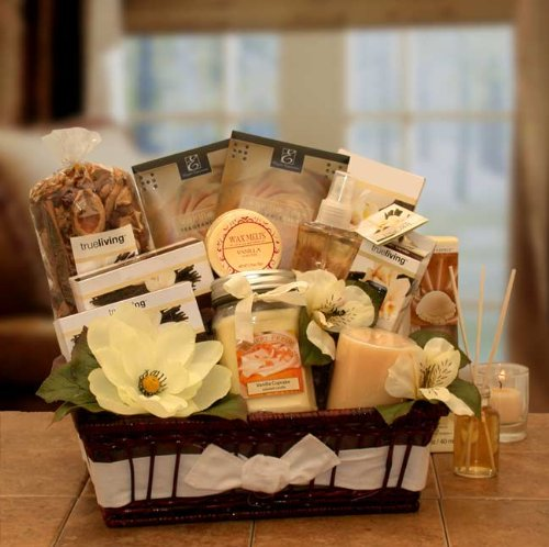 Essence of Vanilla Candle Gift Basket