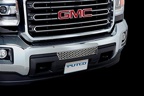 Upgrade Your Auto Putco Polished Stainless Steel Punch Bumper Grille Insert for 2015 GMC Sierra HD