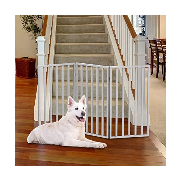 PETMAKER 80-62875-WT Wooden Pet Gate