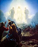 100% Hand Painted Apparitions of Jesus with Christians in field Canvas Wall Art Oil Painting by Well Known Artist, Framed, Ready to Hang