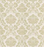 Mirage 983-49010 Signature V Bianca Cream Fabric Damask Wallpaper