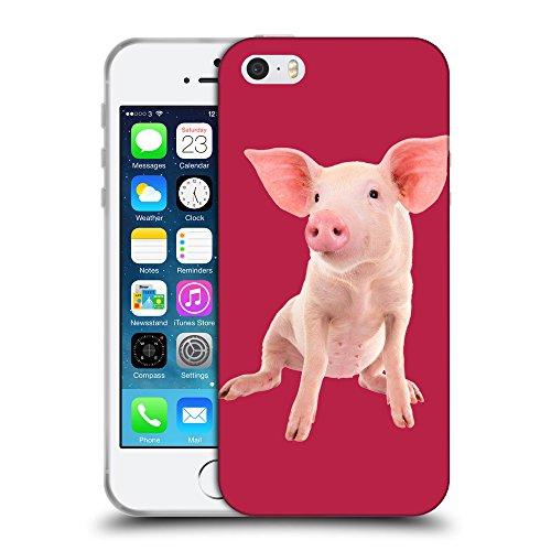 GoGoMobile Coque de Protection TPU Silicone Case pour // Q05580615 Porc bébé Maroon brillante // Apple iPhone 5 5S 5G SE