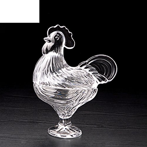 crystal glass fruit bowl/dried fruit-box/fruit bowl/fruit tray/candy/compote/rooster-B (Candy Rooster Glass)
