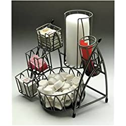 "NEW-ExpresslyHubert-ARCtistic Condiment Holder 10""L x 10""D x 11 3/4""H Flint(47156)"