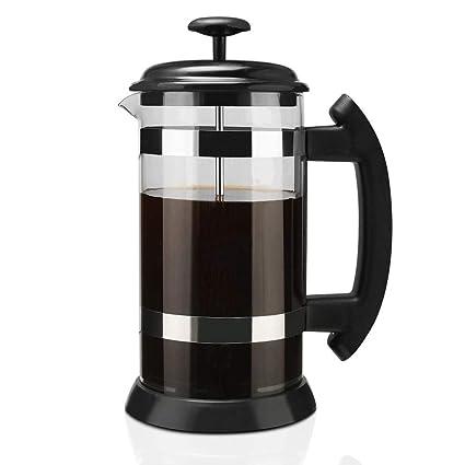 Globalqi Máquina de café de Filtro Cafetera de Acero Inoxidable Máquina de café del hogar Tetera