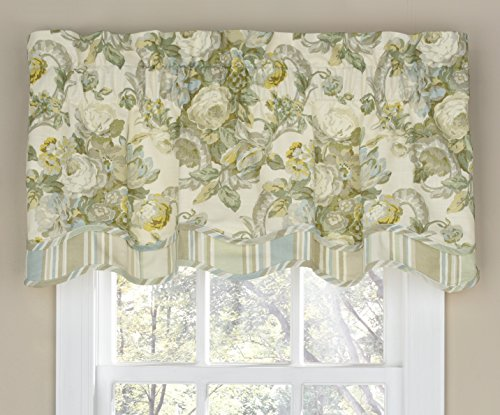 WAVERLY Spring Bling Window Valance, 18x52, Platinum for sale  Delivered anywhere in USA