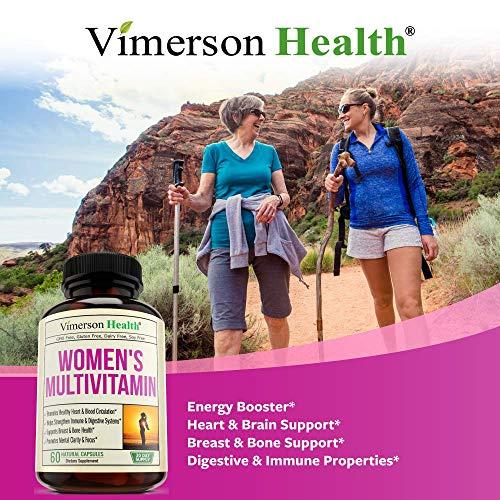 Women's Daily Multivitamin/Multimineral Supplement - Enhanced Vitamins & Minerals. Chromium, Magnesium, Biotin, Zinc, Calcium, Green Tea. Antioxidant Properties for Women. Heart & Breast Health. by Vimerson Health (Image #3)