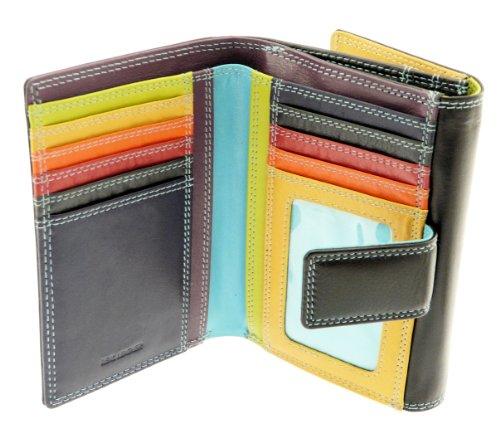 Signore versatile super soft reale portafogli in pelle borsa e di credito titolare della carta con portamonete / sezione - contiene 8 carte di credito