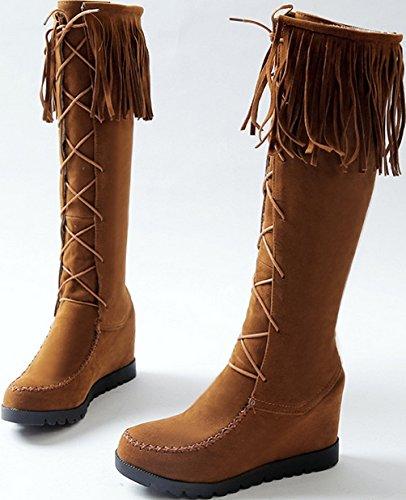 Bottes brun Fringy Laruise pour d'équitation femmes wrOZqArXx