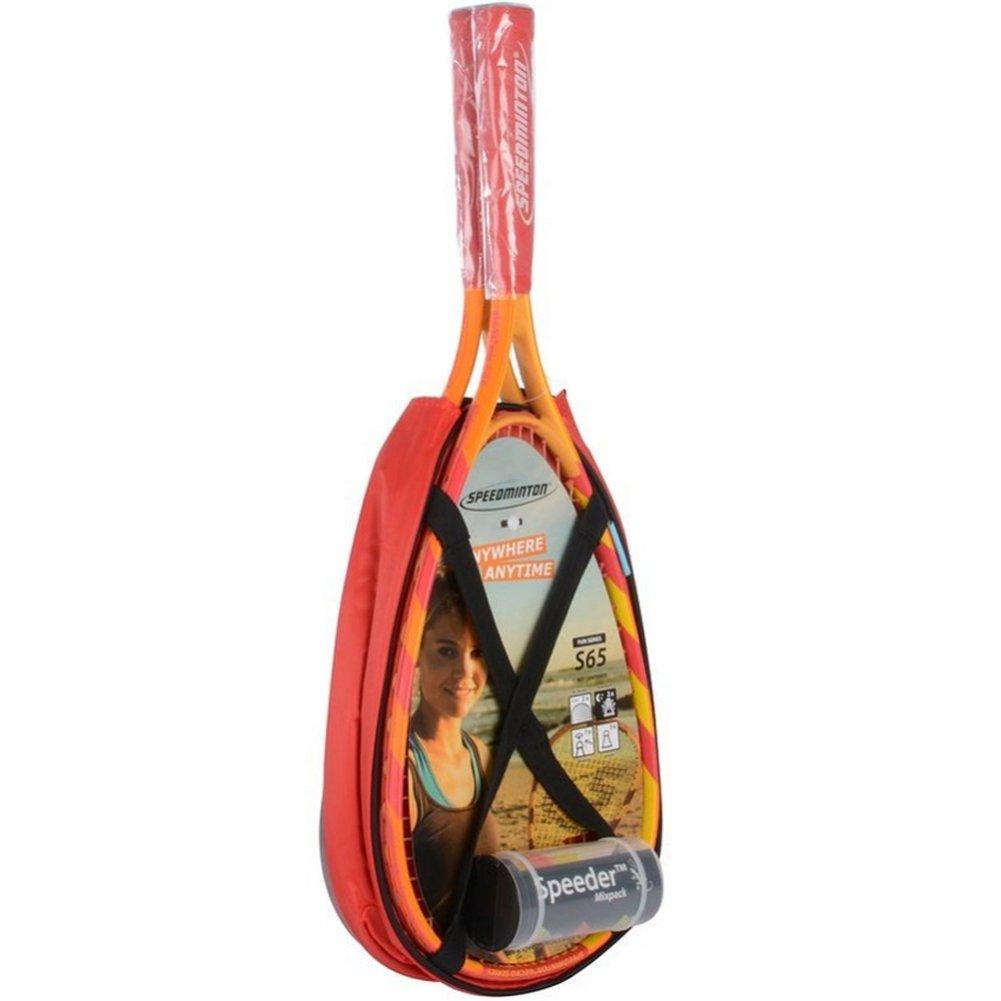 Speedminton S65 Badminton Racket Set Designed for Playing Speed Badminton Wherever you are スピードミントンS65バドミントンラケットセットは、あなたがどこにいようとバドミントンをプレイするために設計されています [倂行輸入] B01NCYQ070