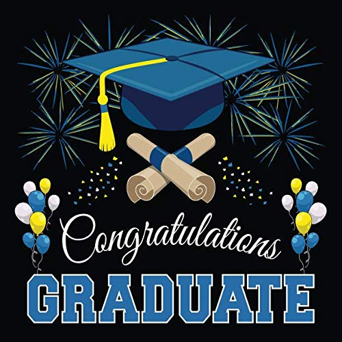 Graduation Guest Book: Congratulations Graduate GuestBook + Gift Log | Class of 2019 Graduation Party Memory Sign In Keepsake Journal | Black Blue -