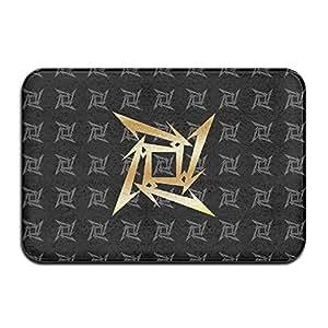 vdseht Metallica Ninja Star oro Logo antideslizante Felpudo